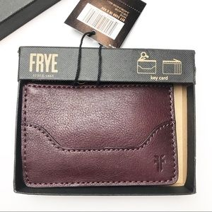 Frye | Melissa Keychain card wallet in a box wine